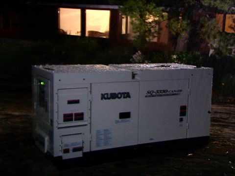 Kubota SQ Generator commercial
