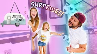 TINY HOME MAKEOVER SURPRISE!! OFFICIAL NEW RV TOUR!!