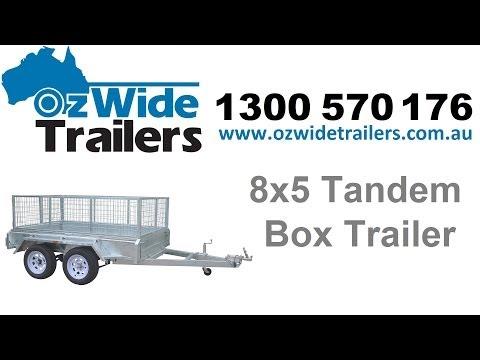 Trailers Brisbane - 8x5 Tandem Box Trailer