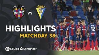 Resumen de Levante UD vs Cádiz CF (2-2)