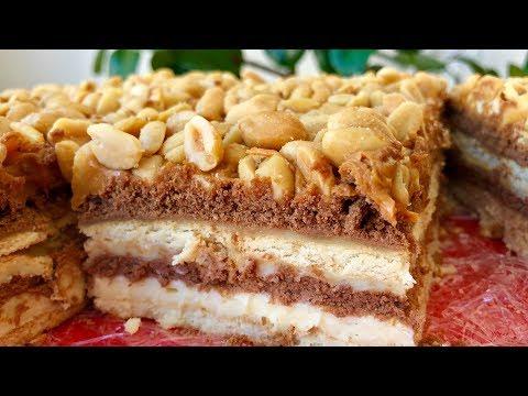 Торт Без Выпечки  А-ля СНИКЕРС | На Большую Компанию