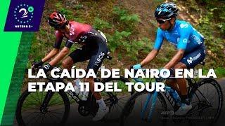 Nairo Quintana habla de su caída en la etapa 11 del Tour de Francia