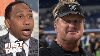 Jon Gruden is right to be angry about Vontaze Burfict's season-long ban - Stephen A. | First Take