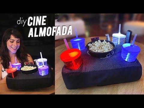 DIY Cine Almofada com Leds – p/ Pipoca, Bebidas e Guloseimas