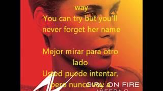 Girl On Fire (Letra En Español/Ingles)
