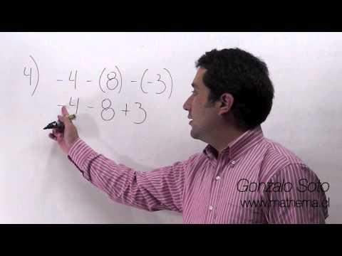 Conjunto Z: Sustracción de números con distinto signo