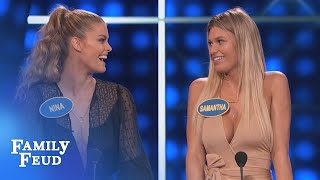 IndyCar Champs: When you gotta go, YOU GOTTA GO! | Celebrity Family Feud | OUTTAKE
