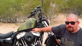 Harley Davidson custom built Tank Lift bracket install