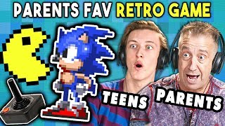 Parents Play Their Favorite Video Game With Their Teens (Sega, Atari) | REACT