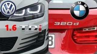 Bmw F30 320d (184hp) vs Golf 7 1.6 TDI Big Turbo |Rolling Race | Rsa Motorsports