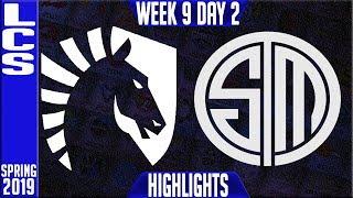 TL vs TSM Highlights | LCS Spring 2019 Week 9 Day 2 | Team Liquid vs Team Solomid