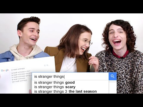 Millie Bobby Brown, Finn Wolfhard & Noah Schnapp Answer the Web's Most Searched Questions | WIRED