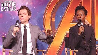 "AVENGERS: INFINITY WAR | Tom Holland & Letitia Wright Play ""Marvel Mash-Up"""