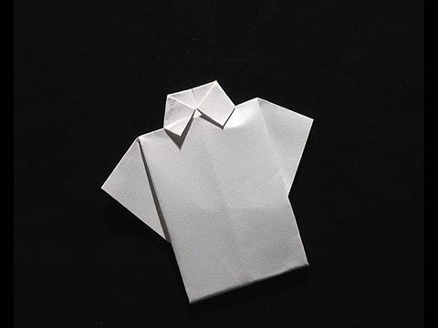 origami pliage papier la chemise youtube. Black Bedroom Furniture Sets. Home Design Ideas