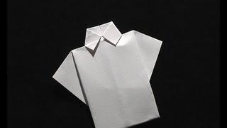 tuto origami chemise et cravate en serviette senbazuru vea mas videos de serviette. Black Bedroom Furniture Sets. Home Design Ideas