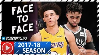 Lonzo Ball vs D'Angelo Russell PG Duel Highlights (2017.11.03) Lakers vs Nets - FACE to FACE!