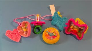 1994 McDONALD'S POLLY POCKET SET OF 4 HAPPY MEAL TOY REVIEW