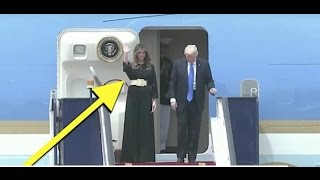 SAUDI REPORTERS NOTICED THE INSANE THING MELANIA TRUMP WAS WEARING!
