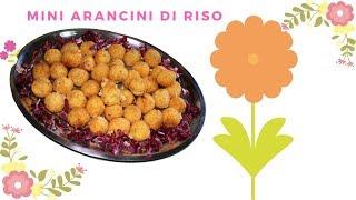 RICETTA - Mini ARANCINI di RISO con OLIVE e FORMAGGIO - BUONIII