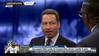 UNDISPUTED | Chris Broussard REACT to Mike Conley trade to Jazz for Grayson Allen, Korver Crowder