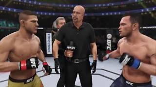 Rafael Dos Anjos vs. Colby Covington (EA Sports UFC 3) - CPU vs. CPU