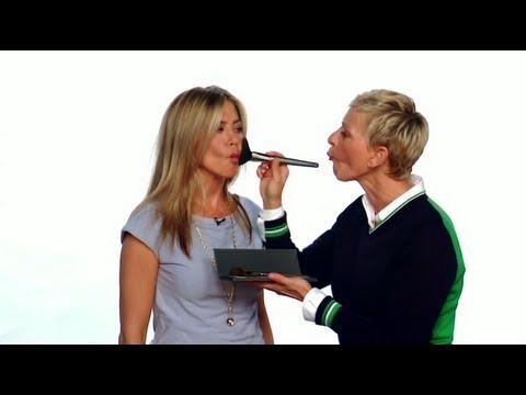 Ellen Helps Jennifer Aniston Get Ready