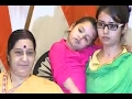Sushma Swaraj at joint press meet with Uzma, rescued from Pak