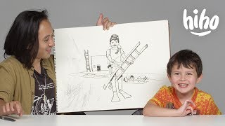 Kids Describe Their Dream Job to an Illustrator | Kids Describe | HiHo Kids