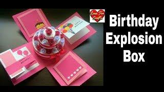 DIY - Birthday Explosion Box Tutorial   How to Make Cake Explosion Box