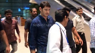 Mahesh Babu With Bouncers@ Airport- Exclusive Video..