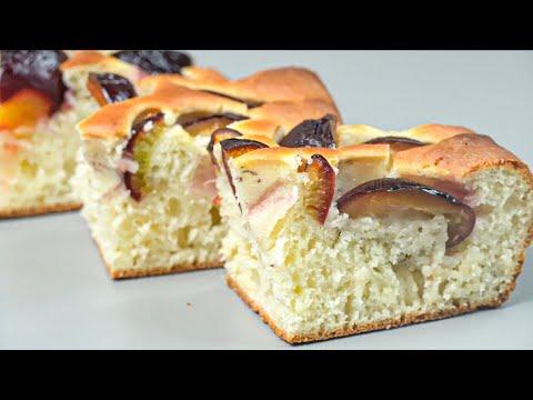 КУДА ДЕВАТЬ СЛИВЫ? Пирог проще простого! Замес теста за 6 минут + время на выпечку!