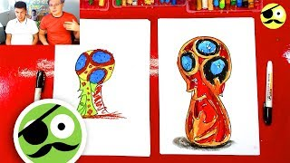 How to draw a Cup FIFA Russia