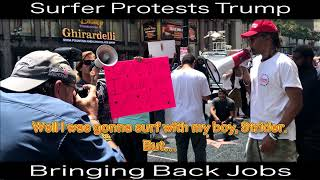 Chad Goes Deep:  Hollywood Trump Protest