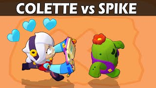 COLETTE vs SPIKE | 1vs1 | 28 Test | Brawl Stars