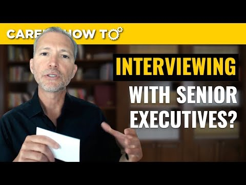 How Jobseekers Should Interview with Senior Executives photo
