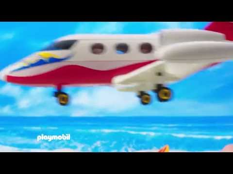 PLAYMOBIL – Casa de Campo, Avião de Férias e Surfista com Descapotável (português)