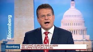 Europe Has a Very Big Appetite for U.S. LNG, EU's Sefcovic Says