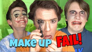 My Brothers Try to Do a MakeUp Tutorial *HILARIOUS FAIL* -|- Bros Vid