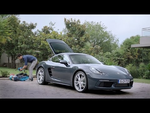 How much can you fit in a 718 Cayman""
