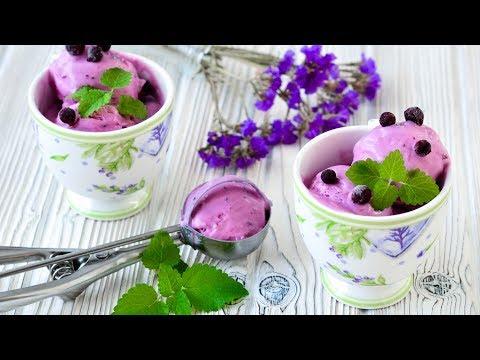 Мороженое с черной смородиной ☆ Яркий вкус и удивительный цвет