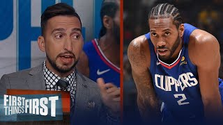 Kawhi is feeling the pressure, LeBron is best closer in NBA — Nick Wright | NBA | FIRST THINGS FIRST