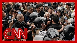 Protesters arrested after violent clashes in Hong Kong