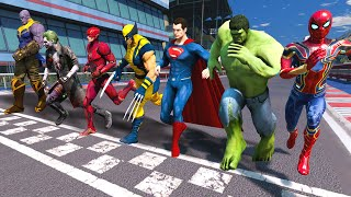 MARVEL VS DC COMIC | ALL SUPERHEROES Running Challenge Electric Traps #8 (Funny Contest)