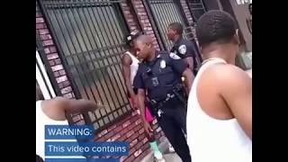 New Viral  violent Video Baltimore cop, brutal disturbing news video racial beating of blackman.