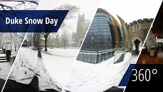 Snowfall on Duke Campus [360° video] video