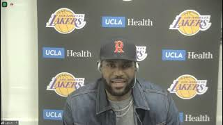 LeBron James Postgame; Lakers beat the Pelicans