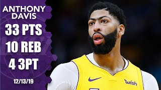 Anthony Davis drops 33 points, 10 rebounds in Lakers vs. Heat matchup | 2019-20 NBA Highlights
