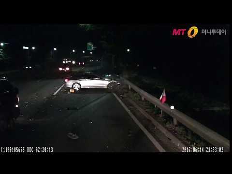 (CCTV)수입차 자랑하려 '시속 234㎞ 광란 질주'.....쾅!