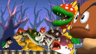 Newer Super Mario Bros DS - All Castle Bosses