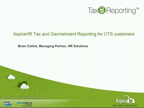 AspireHR Tax and Garnishment Reporting for CTS Customers